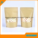 Kraft Paper Pouches / Kraft Paper Stand up Pouch / Kraft Paper Stand up Bolsas com fecho de correr