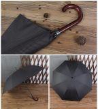 خشبيّة يثنّي كلاب فائقة طويلة مقبض آليّة مظلة [بوسنسّ من] قضيب مستقيمة مضادّة مشاغبة مظلة