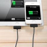 iPhone 4のためのナイロン編みこみの30pin USBデータ充満ケーブル