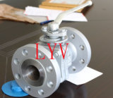 Fabriqué en Chine Full Bore Flanged 3PCS Fixed Ball Valve