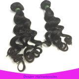 未加工加工されていないバージンの毛のインドに緩いカーリーヘアーの編むこと