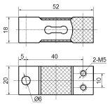 Cella di caricamento della lega di alluminio 100kg