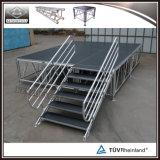 Estágio de alumínio da altura ajustável por atacado para o equipamento do evento