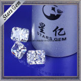 O ponto luminoso Best-Selling cortou o Gemstone frouxo da CZ do branco de 8.5X6.5mm