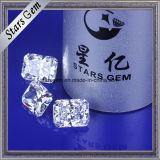 Il punto d'irradiazione di successo ha tagliato la pietra preziosa allentata della CZ di bianco di 8.5X6.5mm