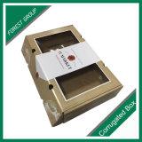 Aduana de empaquetado acanalada plegable del rectángulo de papel de Cardbaord