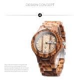 Relógio de madeira da curvatura unisex nova do Slingshot dos homens do estilo