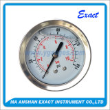 Todo S-Indicador de presión del manómetro con la abrazadera Medidor de T-rellena de líquido
