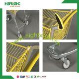 Caddies électriques de chariot à poussée de main en métal de supermarché neuf de type
