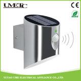 Luz solar de la pared LED del jardín de la lámpara al aire libre ahorro de energía del sensor