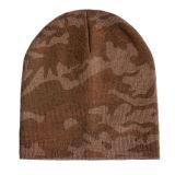 Chapéu de confeção de malhas do inverno simples preto (JRK078)