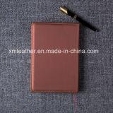 Cuaderno de cuero de la PU del papel del diario profesional del Hardcover