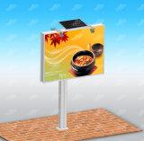 Quadro de avisos Backlit diodo emissor de luz ao ar livre que anuncia o quadro de avisos de aço solar