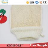 Guante Exfoliating de la esponja de Luffa del baño del Loofah del depurador natural de la parte posterior (KLB-108)