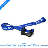 Custom Flat Polyester Printed Lanyard Strap with Safety Buckle