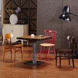 A mobília de madeira do restaurante ajustou-se com a cadeira do estilo e a tabela diferentes do quadrado (SP-CT832)