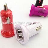 Le plus récent chargeur de voiture USB 2 ports pour téléphone portable