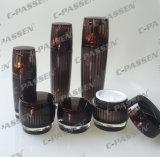 化粧品の包装のための新しい水晶ブラウンのアクリルのローションのびん(PPC-ALB-045)