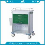 Precio caliente de la carretilla del hospital del metal de la pintura de la venta AG-GS005