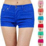 Shorts della casella del Chino di colore solido delle donne dell'OEM mini