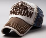Gorra de béisbol lavada de los pantalones vaqueros para el verano