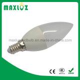 Lumière de bougie d'ampoule de C37 3W E14 DEL