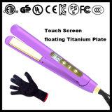 Raddrizzatore piano di galleggiamento elettrico professionale dei capelli del ferro dello schermo di tocco dei piatti