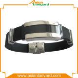 Bracelet de silicones de modèle de propriétaire avec le métal