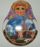 Rusia Coaster Cork muñecas a todo color
