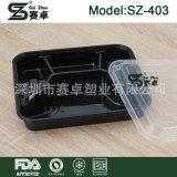 Wegwerfpartition-Nahrungsmittelbehälter des plastik4 mit Deckel