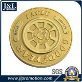 La doratura elettrolitica lucida della moneta in lega di zinco del metallo della pressofusione con la sabbiatura