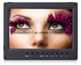 """Soporte 4k HDMI de entrada 7"""" monitor de la cámara con la placa de la batería"""