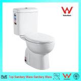 Het Chinese Toilet van het Watercloset van de Waren van het Porselein van de Fabrikant van het Toilet Tweedelige Sanitaire Tweedelige Ceramische