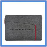 Neue Form-umweltfreundliches Material 70% des zufriedenen Wolle-Filz-Laptop-Aktenkoffer-Beutels, kundenspezifischer beweglicher weicher Laptop-Beutel mit Reißverschluss