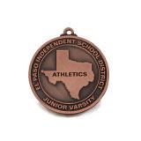Medalha de bronze antiga feita sob encomenda da concessão da natação do esporte