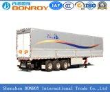 Uitstekende kwaliteit Cimc de Semi Aanhangwagen van Van 3axle/van de Doos met Draagwijdte