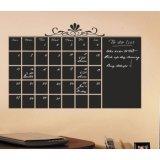 Etiqueta personalizada del calendario con la etiqueta engomada de la tiza de la pizarra de la semana