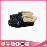Ботинок Moccasin овчины с подкладкой шерсти Faux