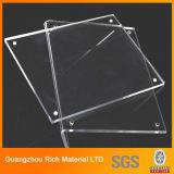 Feuille en plastique d'espace libre/plexiglass acrylique transparent pour l'étalage acrylique