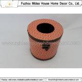 Caixa de couro feita sob encomenda do tecido da alta qualidade