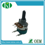 Potentiomètre rotatif de précision de contrôle de volume de 17 mm avec 5 broches Wh168-2