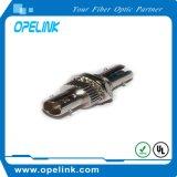 Manutenção programada simples do adaptador da fibra óptica do St para o cabo da rede