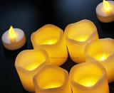 LEDの誕生日カラー変更のための装飾的な茶ライト蝋燭