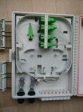 Fiber Optic Distribution Box /Caja Mural Para 1*8 PLC Splitter Y Distribucion Con 16 Salidas (entrada Ovalada)