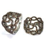 2017 New 925 Sterling Silver Fashion AAA CZ Crystal Jóia de anel de pedra bonita (R10752C)