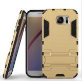 Geval van het Pantser van de Verkoop van de fabriek het Directe Slanke voor Geval van de Telefoon van het Silicone van Samsung PC+TPU het Mobiele