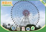 위락 공원은 75m 고도 판매를 위한 관광 회전 관람차를 탄다