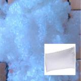 Fibres discontinues de polyesters conjuguées creuses