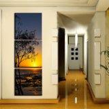 Die fünf Panel-Wand-Segeltuch-macht dekorativer Landschaft-Farbanstrich natürliches Landschaftsdrucken in Handarbeit