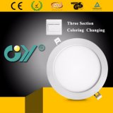 Color cambiante caliente LED Downlight redondo 6W de tres secciones con Ce